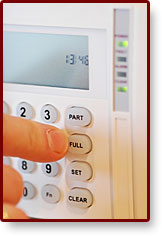 Photo of alarm keypad